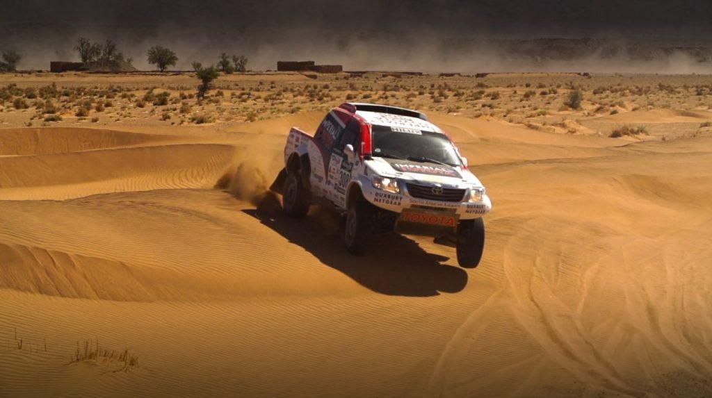 Toyota Imperial Hilux Pairing De Villiers / Von Zitzewitz battle through longest stage of Morocco Rally