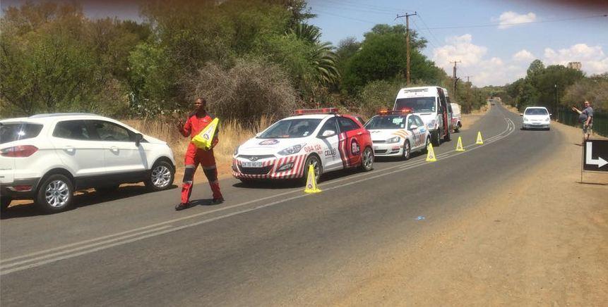 Securing crash scene