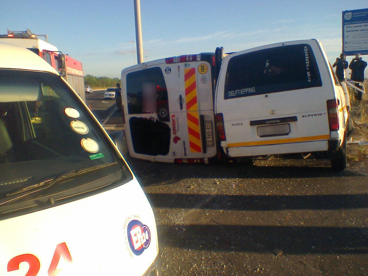 Seventeen injured in Delft taxi collision