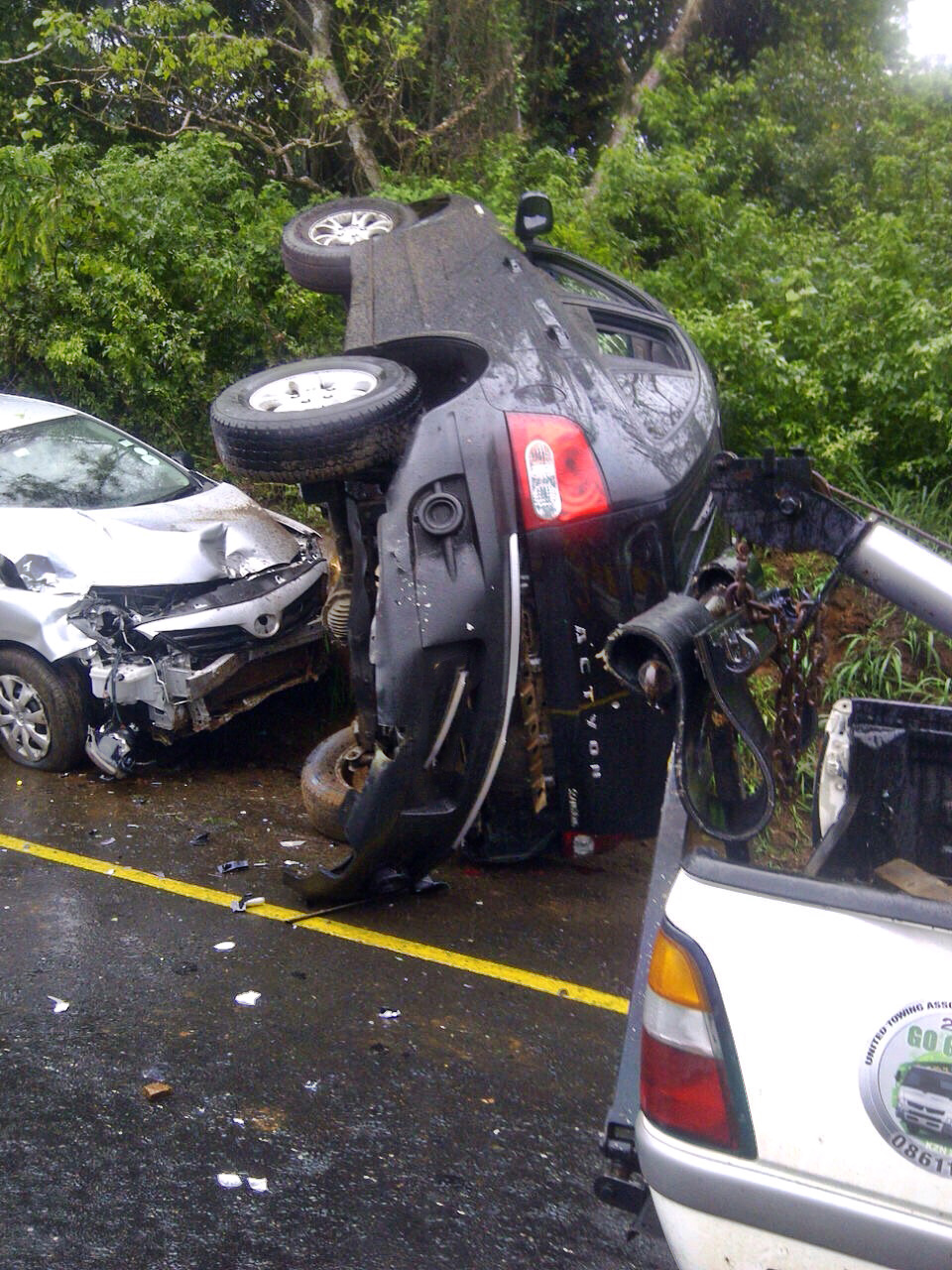 M4 La Lucia collision in bad weather leaves five injured