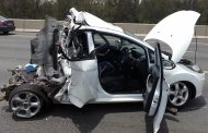 Miraculous escape from serious injury for driver after crash in Fourways