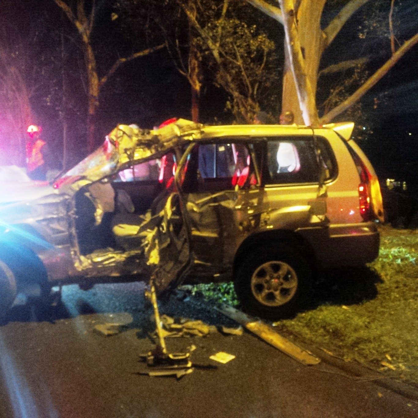 Three injured as vehicle collides with tree in Durban