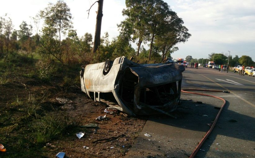 Six killed in horror collision between taxi and Ford Ranger at Olifantsfontein