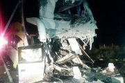 Photos from scene of bus crash near Virgina claiming lives of driver and driver assistant