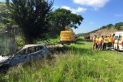 One killed and 3 injured in vehicle rollover on the N3 near Tugela River
