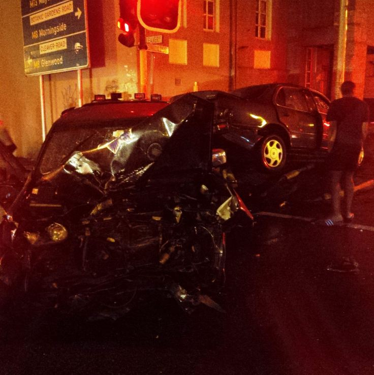Early morning collision leaves 4 injured