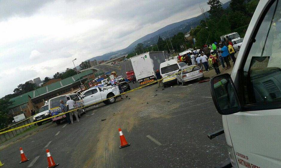 12 vehicle pile-up in Pietermaritzburg