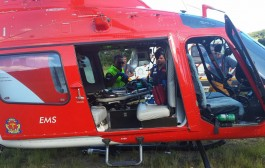 Photos from scene as young boy is evacuated by emergency helicopter from N2 at Hibberdene