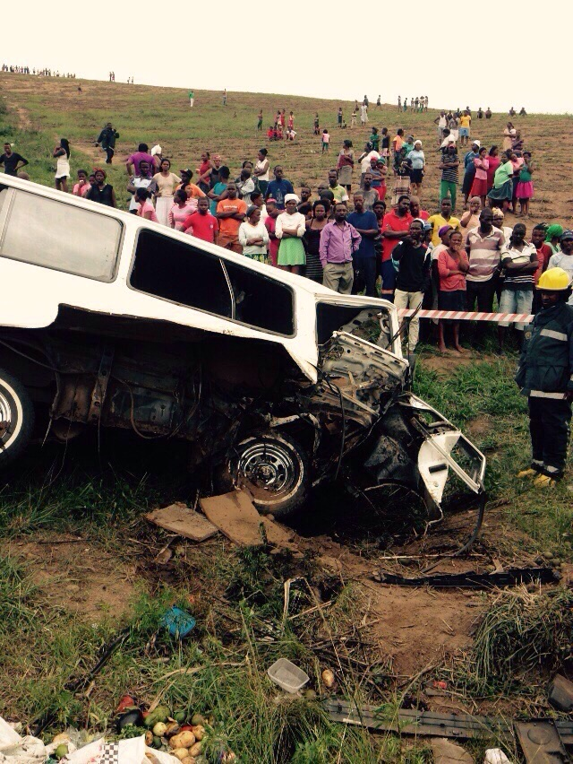 KZN Tongaat Gwalas Farm road crash leaves one dead and seven injured