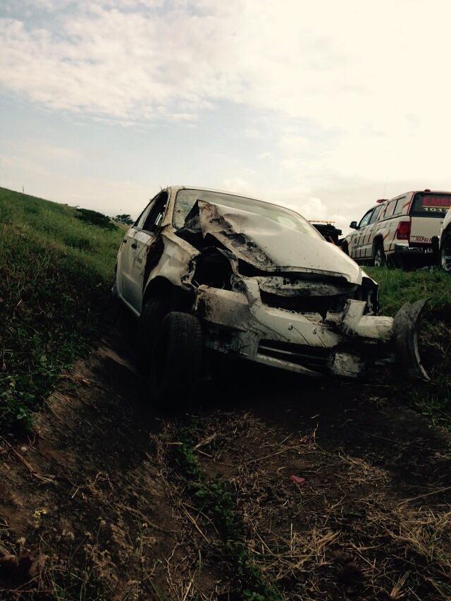 KZN N2 Sibaya vehicle rollover leaves four injured