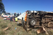 Bloemfontein delivery vehicle rollover leaves two injured