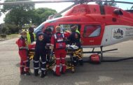 Man airlifted after knocked over by taxi