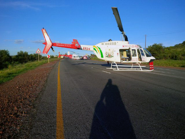 Two airlifted from N12 collision 3