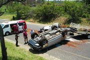 Vehicle with trailer overturns on R37 between Nelspruit and Lydenburg