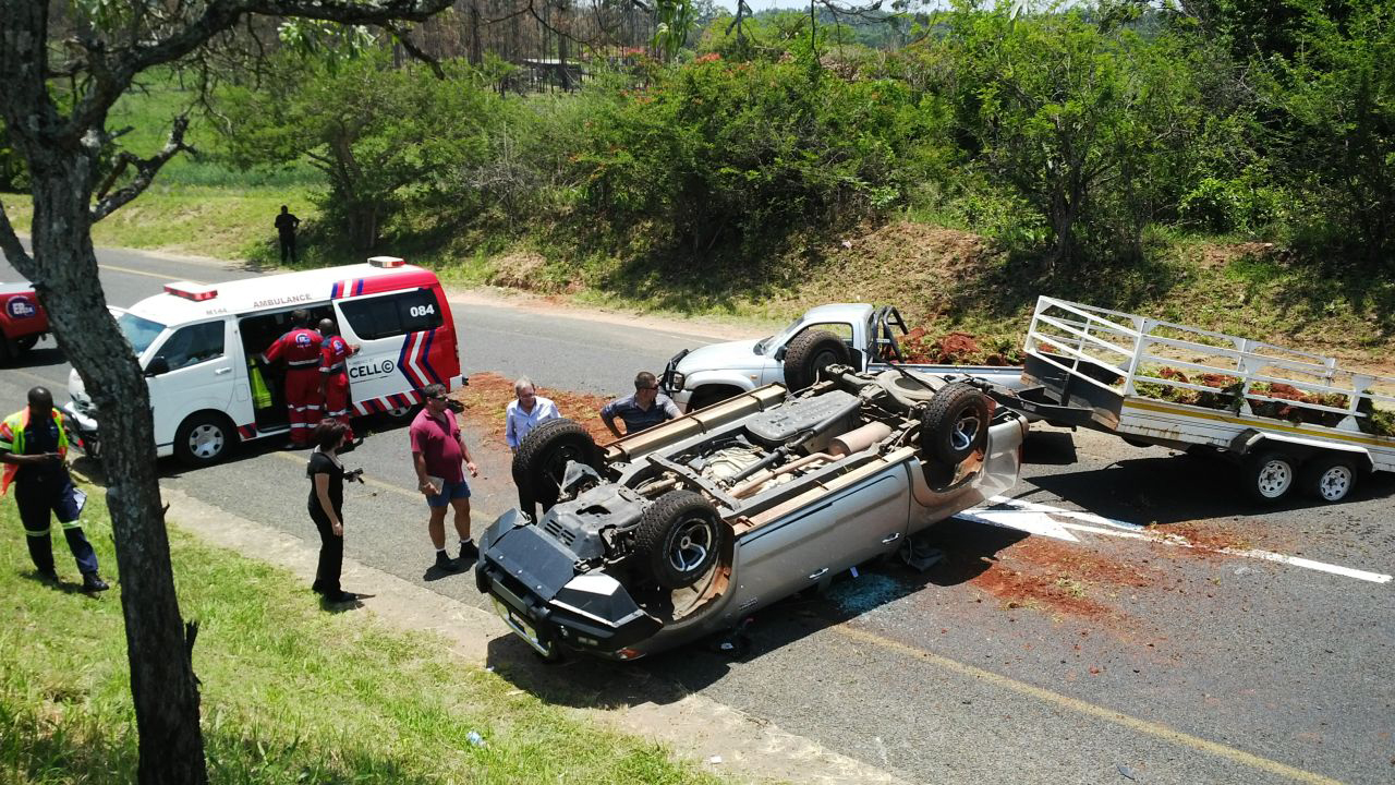 Vehicle With Trailer Overturns On R37 Between Nelspruit
