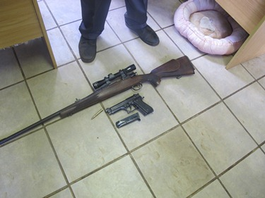 Two suspects arrested after tip-off on farm near near Howick with unlicenced firearms