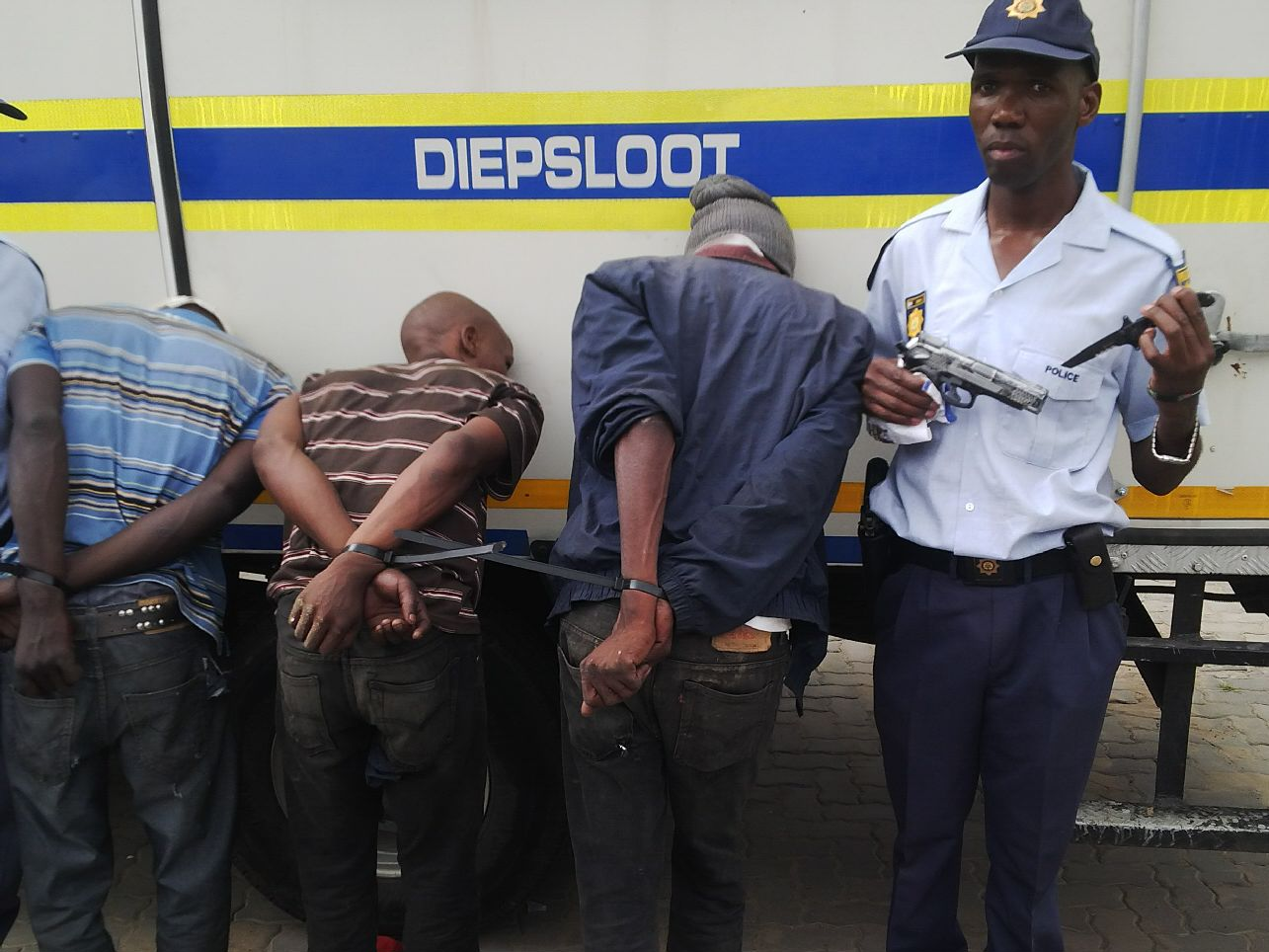 Three caught for armed robbery in Diepsloot
