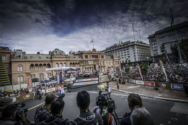 Dakar 2015 podium view