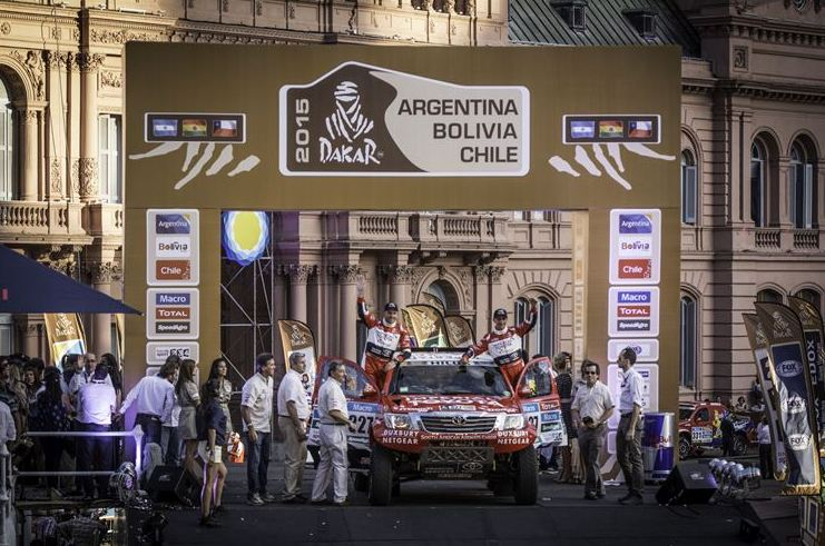 Toyota Imperial SA Dakar Team successfully completed pre-checks for Dakar 2015