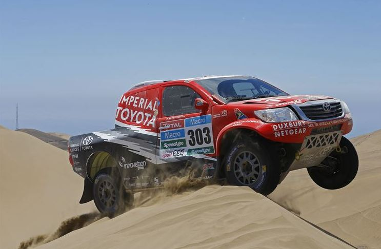 De Villiers 2nd on Stage 7 as Poulter consolidates in Dakar 2015