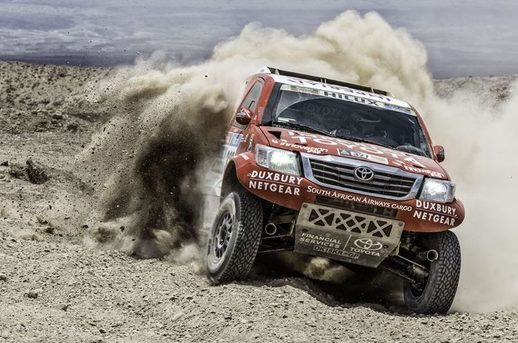 De Villiers maintain 2nd Position despite navigational challenges on Stage 9 of Dakar 2015
