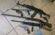 Illegal firearms seized during crime prevention team at Msinga area