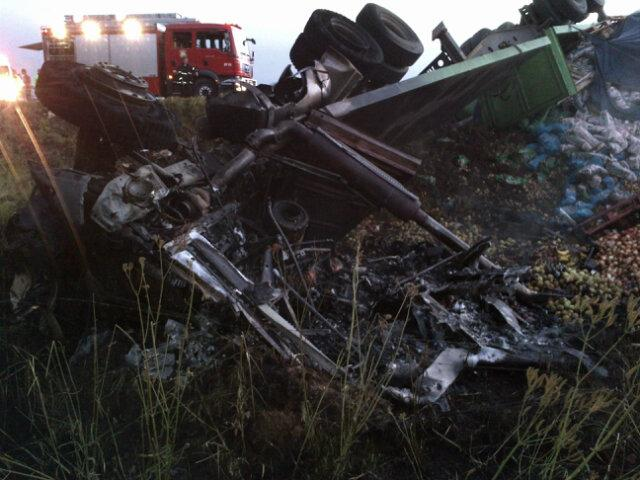 One dead in truck collision 1