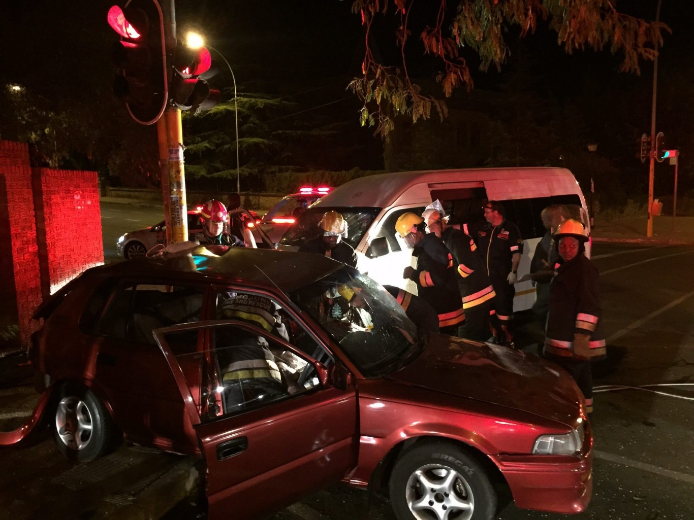 Four injured in collision at intersection in Bloemfontein CBD