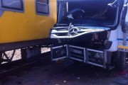 Photos after truck collided with train on Refinery road in Germiston