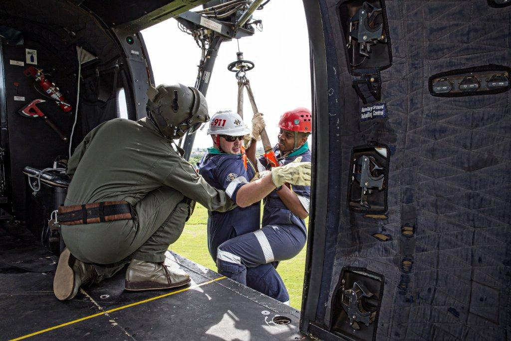 Photos from rescue training day at air force base in Durban
