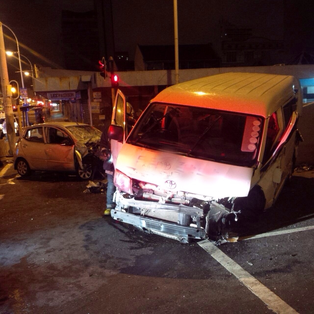 Early morning intersection collision in Durban leaves 2 injured, 1 critical
