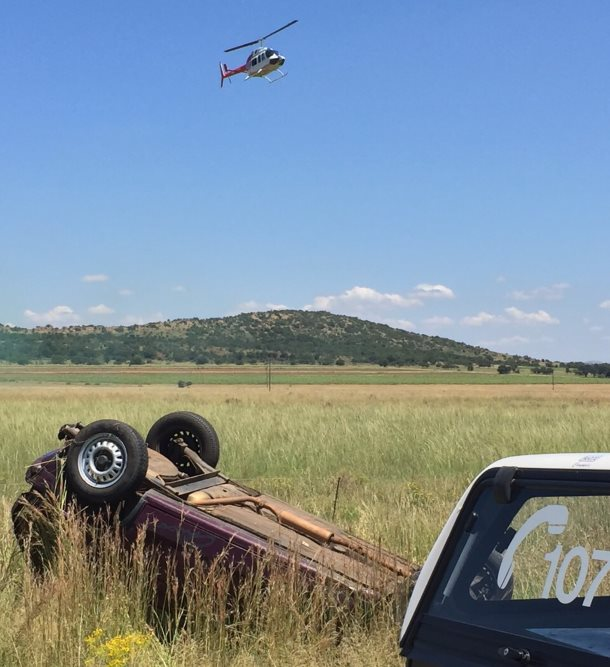 Man airlifted after collision
