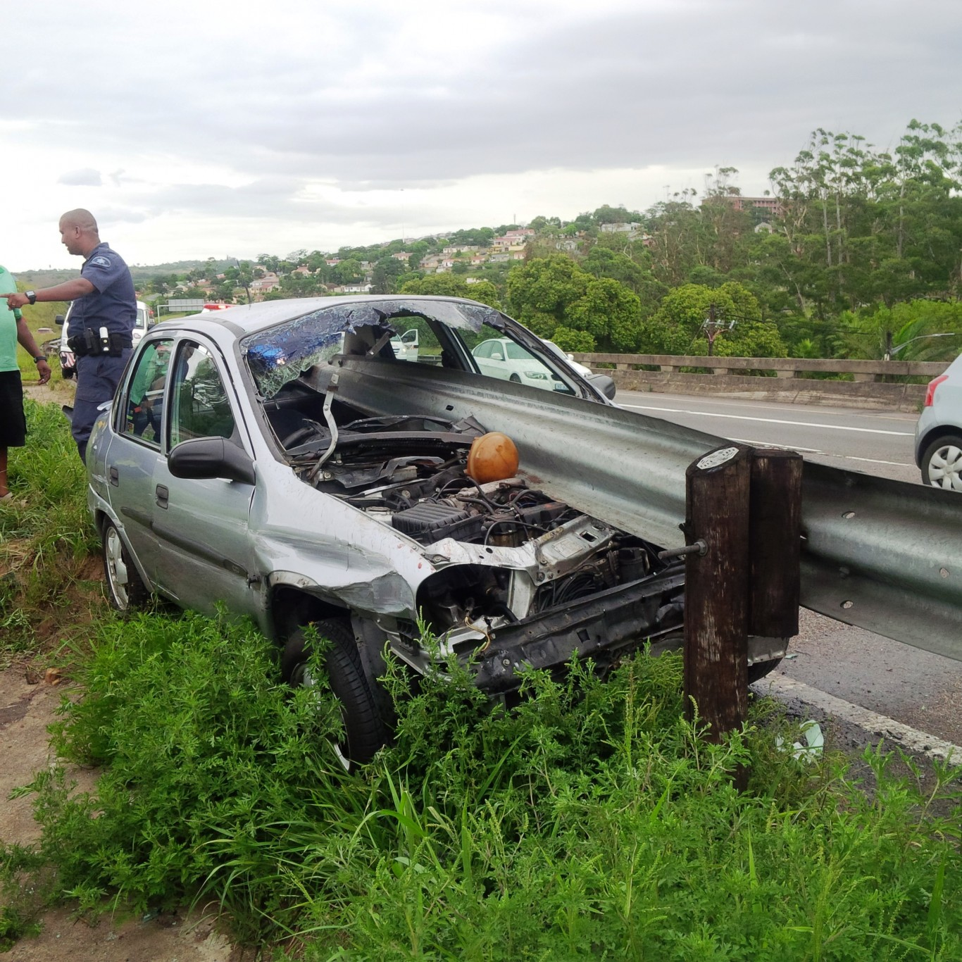 Man survives horror  crash near Spaghetti Junction