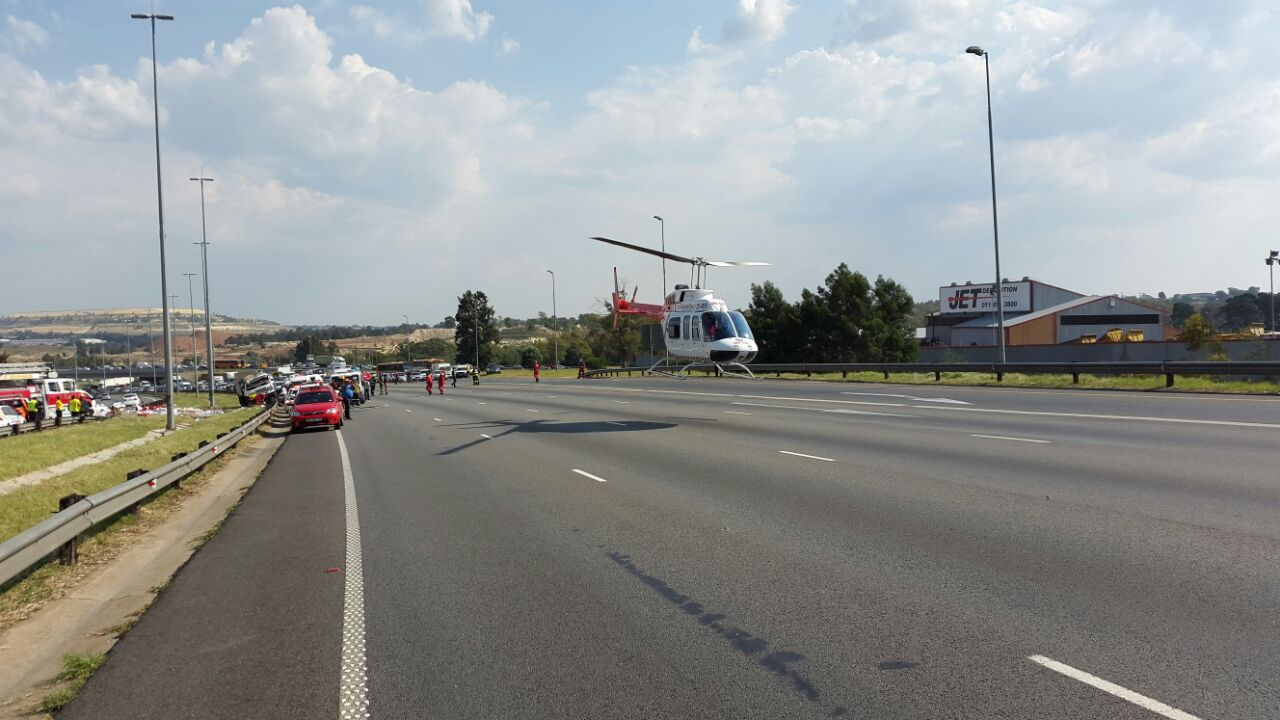 Truck flipped on N1, patient airlifted1