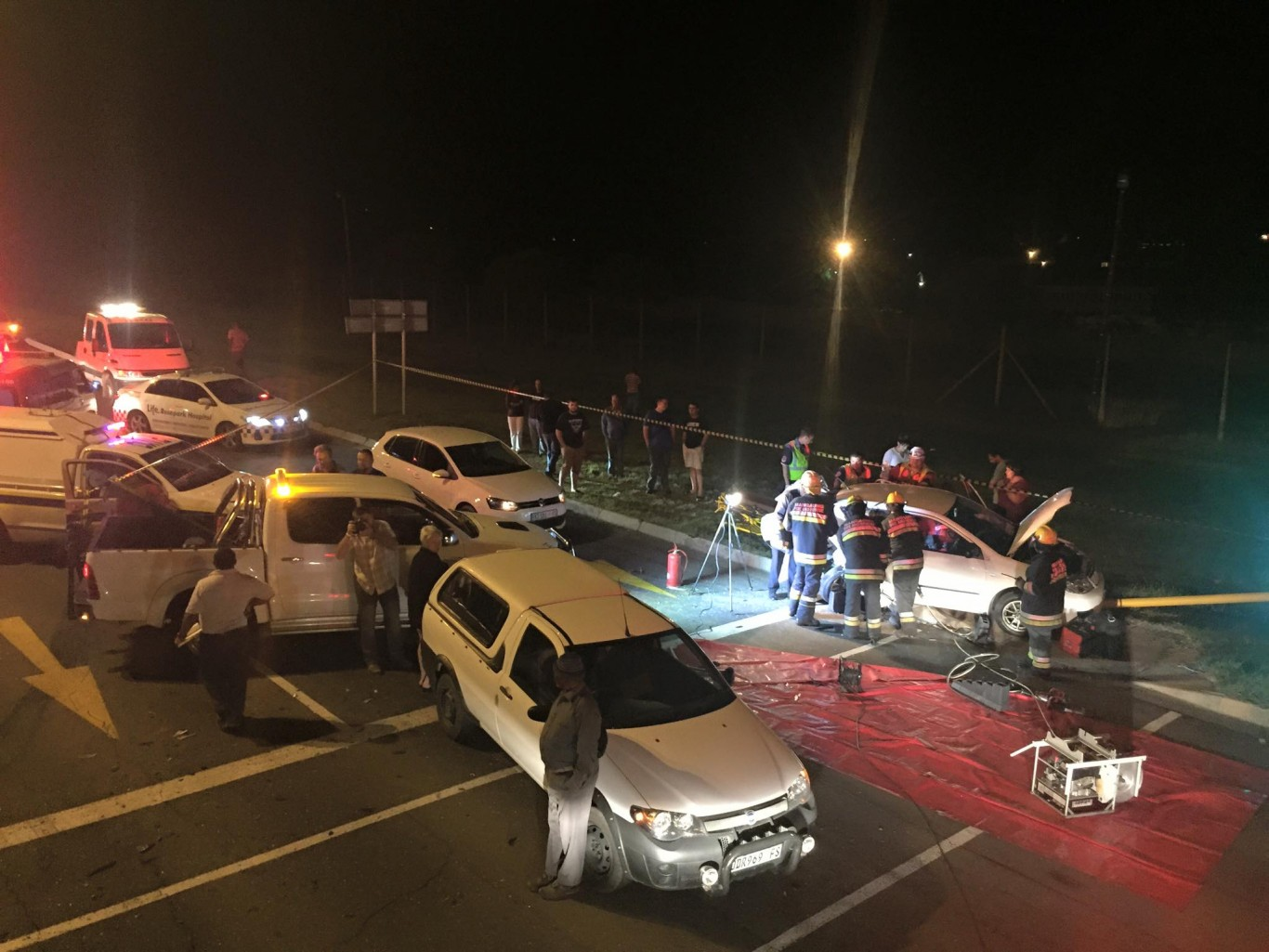 Two injured in rear-end collision at traffic light in Bloemfontein