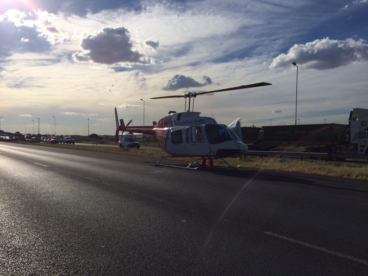 Man airlifted from N12 highway after collision