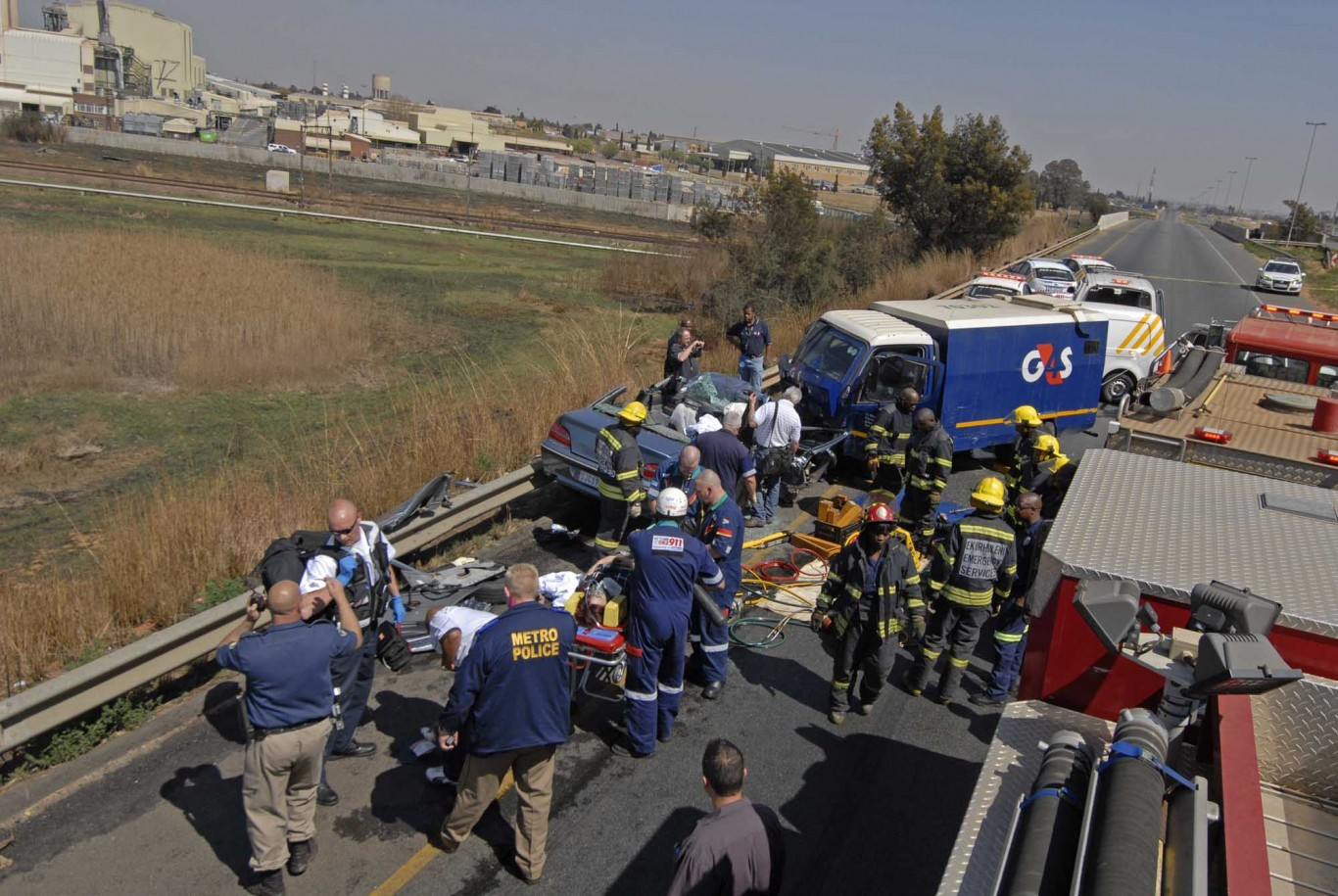 Child and baby injured in collision at intersection in Bloemfontein