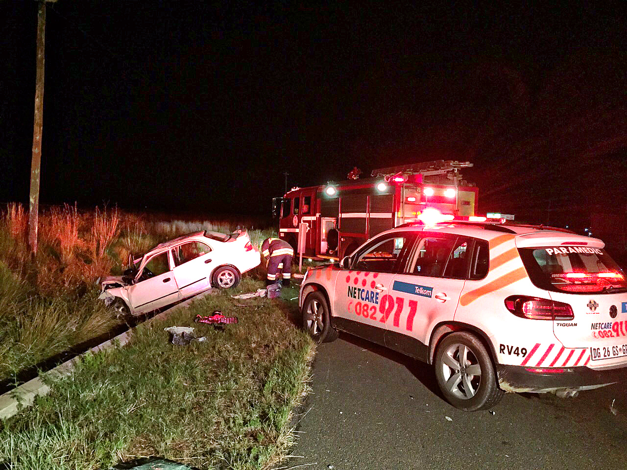 Bloemfontein N8 road crash leaves four injured