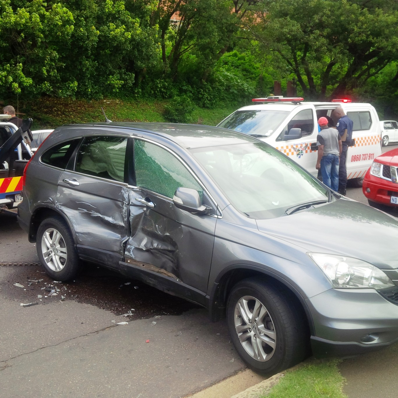 Baby injured in motor vehicle collision