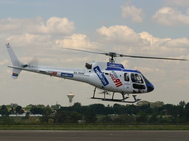 Netcare2 helicopter airlifts woman with multiple gunshot wounds to Kempton Park hospital