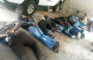 9 Suspects arrested for armed robbery and possession of seven firearms