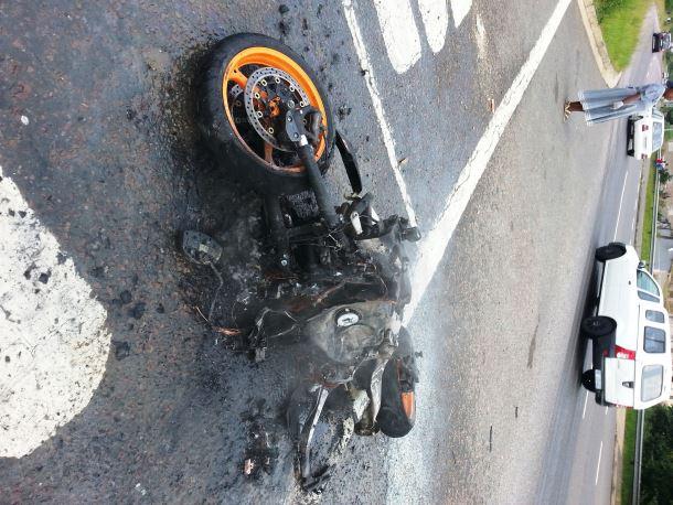 Biker injured in collision