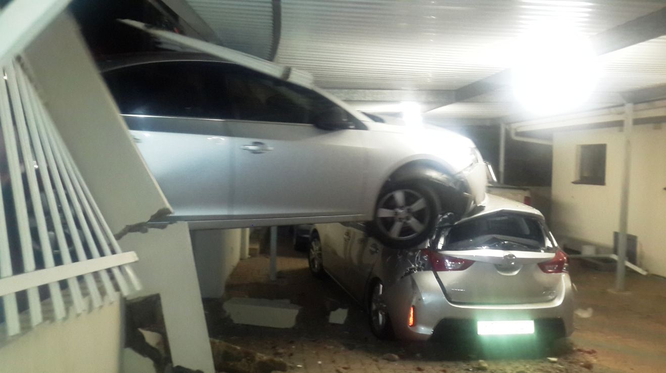 Lucky escape from serious injury for lady driver in Durban