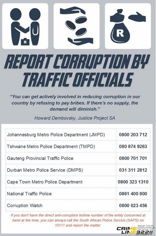 Mount Road SAPS members arrested for corruption after road offence