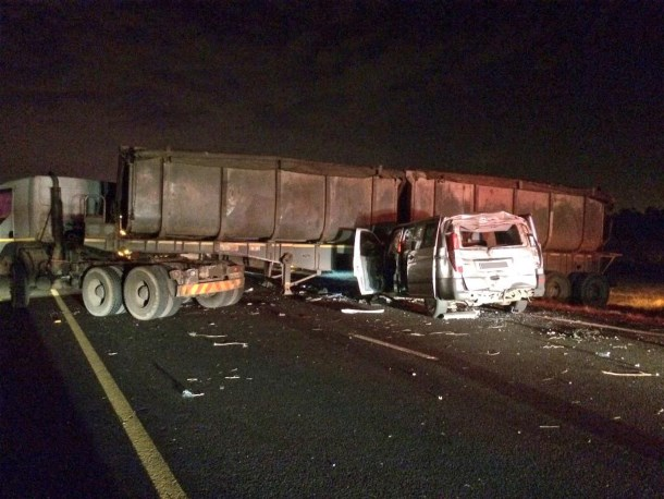 Four injured in truck collision