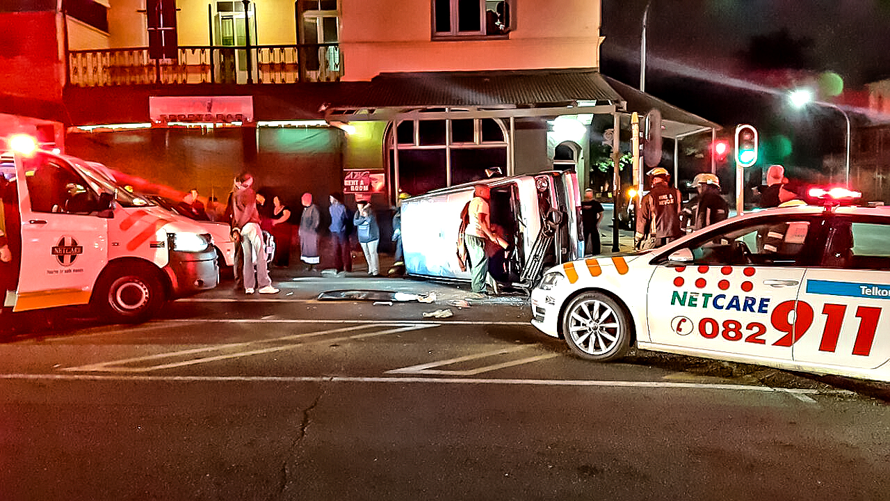 8 Injured in taxi crash at intersection in Pietermaritzburg