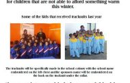 Project in Eastern Cape to assist poor schools with sponsored tracksuits
