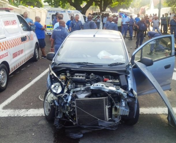 High speed chase leads to serious collision Durban
