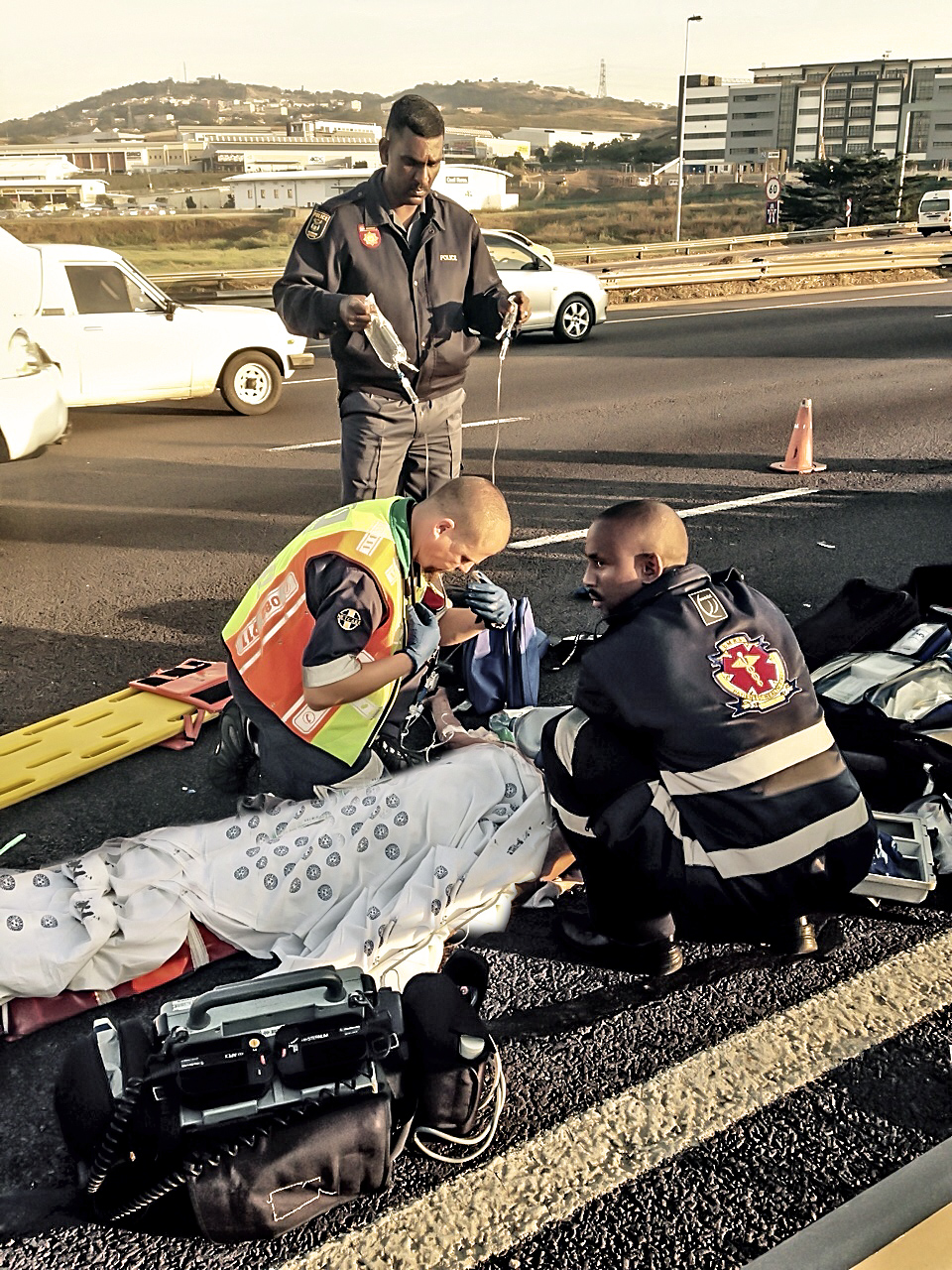 N2 North pedestrian crash leaves man critically injured