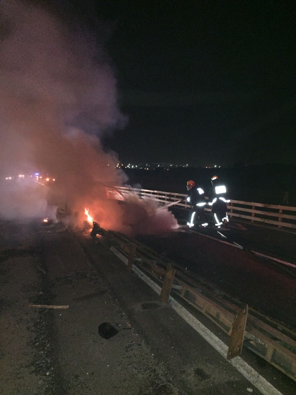 Car crashes and catches alight at Inanda
